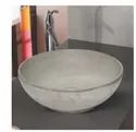 Mozio Italian Table Top Round Cement Wash Basin, For Home, Model Name/number: C6530