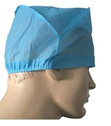Blue Non Woven Medprio Surgeon Cap, Size: Universal