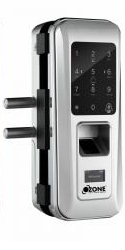 FINGERPRINT DIGITAL GLASS DOOR LOCK WITH 4-IN-1 ACCESS(GLASS TO WALL)