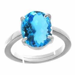 Blue Topaz Ring Silver Gemstone