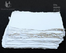 Handmade Paper, Fine-Cut, A4 Size- Off-White