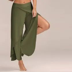 Army Green Rayon Palazzo Pants For Girls