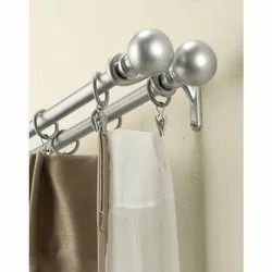1 - 2 Inches Diameter Steel Window Curtain Rod, Size: 7 feet to 10 feet