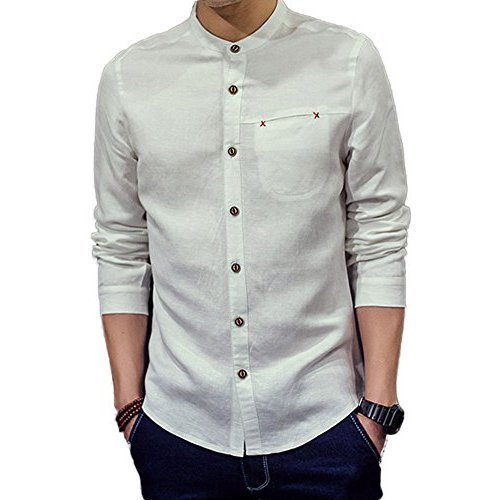 76fefda2395 Cotton Men  s Mandarin Collar Shirt