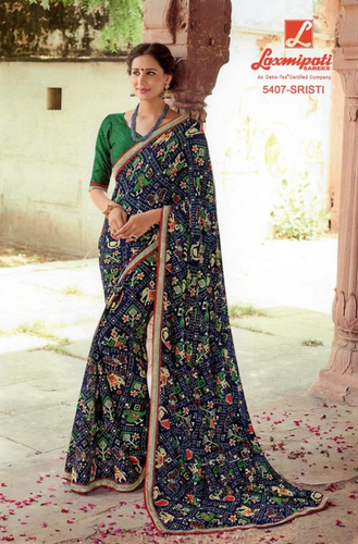 3b40e516c8f Laxmipati Multicolor Chiffon Saree DILBARO 5407 at Rs 1630  piece ...