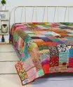 Patchwork Silk Double Kantha Quilt