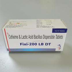 Cefixime & Lactic Acid Bacillus Dispersible Tablets