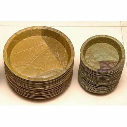 Annapurna Circular Disposable Leaf Buffet Plate