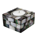 Rawsome Shack Mother Of Pearl Candle Holder