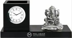 Decorative Table Clock Pen Stand