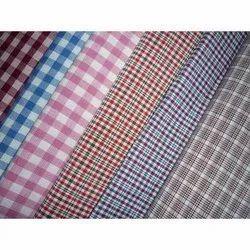Check Polyester Viscose Uniform Fabric