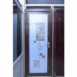 Hinged Aluminum Bathroom Door, Design/Pattern: Printed
