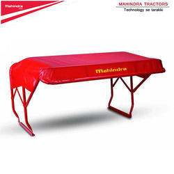 Red Mahindra Mild Steel Tractor Canopy