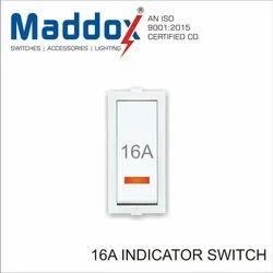 White Maddox 16A Indicator Modular Switch 1 Way