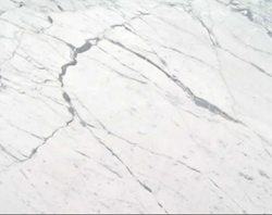 White Polished Carrara Marble Slab for Flooring, Thickness: 10-50 mm