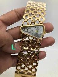 Golden Color Guess Designer Watch
