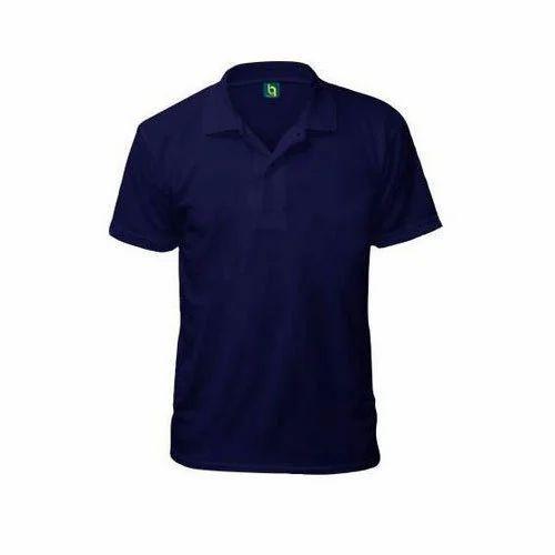 e1828b279 Cotton Plain Navy Blue Polo T-Shirt, Rs 350 /piece, Beauqlo LLP | ID ...