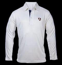 Cricket White Full Sleeves T-Shirt