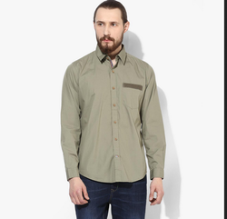 6a730a50ca1 Red Chief Olive Regular Fit Casual Shirt