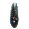 Men Black Leather Lace Up Formal Shoes, Size: 6-9