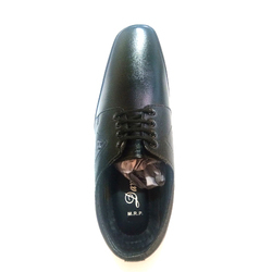 Men Black Leather Lace Up Formal Shoes, Size: 6-9