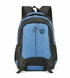 Plain Polyester School Backpack Bag