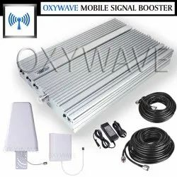 High Gain 2G, 3G, 4G Tri Band Mobile Signal Booster Amplifier Fully Kit (Coverage 8000 sq. feet)