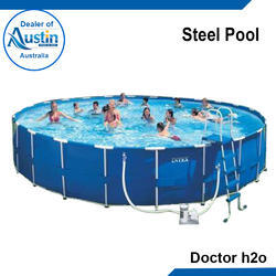 Steel Pool for Amusement Park, Capacity: 47000 Ltr, Height: 52 Inch