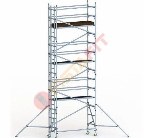Silver Aluminum Mobile Scaffold Standard Tower