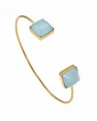 Beautiful Fantastic Hot Cushion Shape Micron Gold Plated Fine And New Fashionable Bangle Jewelry