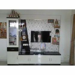 Wood TV Unit, Size: 40-49 inch