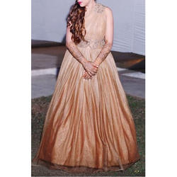 Medium and Large Golden Ball Gown