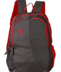 Grey And Red Backpack