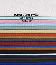 Cross Tiger Twill Shirting Fabric