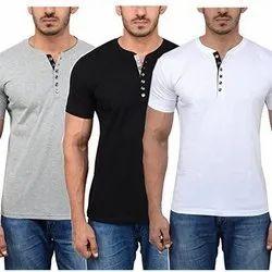 Printed Casual Wear Mens Cotton T Shirt