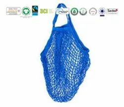 Natural Recycle Organic Cotton Multi Colour String Bag