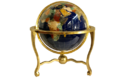 Vintage Brass Base Gemstone Globe