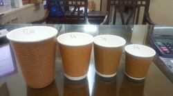 Brown Corrugated Paper Cups