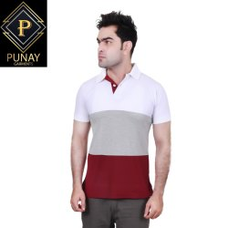 PUNAY Cotton Casual Polo T-Shirt