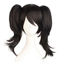 3 Pcs Straight Black Wig For Young Girls