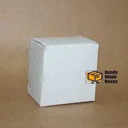 Small White Corrugated Box