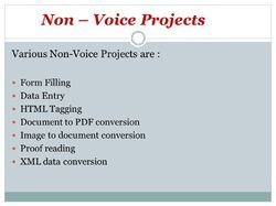 Non Voice BPO Projects