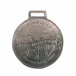 Half Marathon Silver Plated Medal