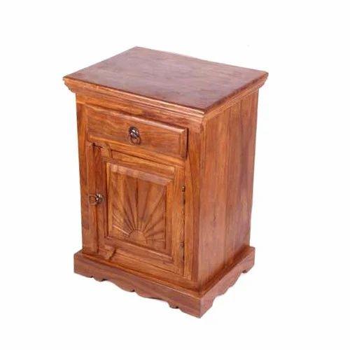 Teak Wood Bedside Cabinet