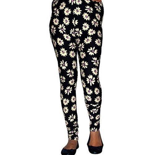 1cd98b97565c8 Vaishali Black And White Ladies Velvet Printed Legging, Size: Xl, Xxl