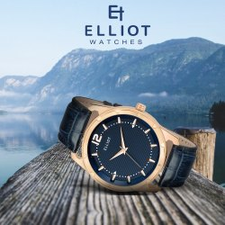 Elliot Men Premium Watches With Leather Strap With 2 Years Warranty