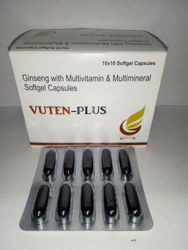 Soft Capsule Of Ginseng With Multi Vitamin  Minerals And Antioxidant, Packaging Type: Box