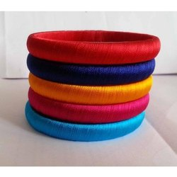 Special Collection Neon Color Silk Thread Bangles