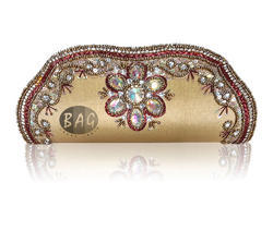 Stone Work Clutch Bag
