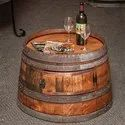 Natural Reclaimed Half Wine Barrel Coffee Table
